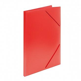 033072 Папка с резинкой  А4, красный