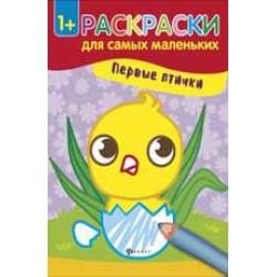 054474 Книжка-раскраска для самых маленьких.Первые птички