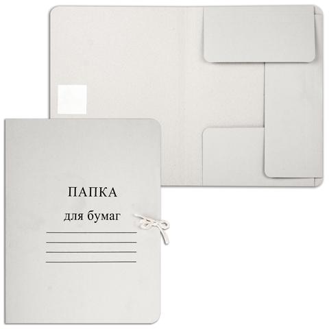"""035979 Папка """"Дело""""с завязками картонная, гарант. пл.280 г/м2"""