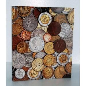 056664 Альбом д/монет на кольцах (230*265мм), 10 л., ламинир.