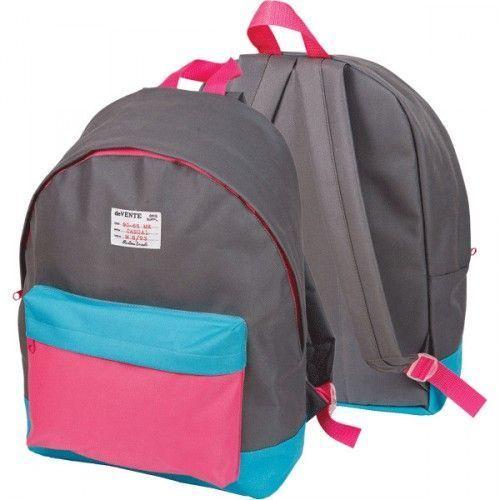 """080852 Рюкзак подростковый  """"deVENTE. Серый с голубым и розовым"""""""