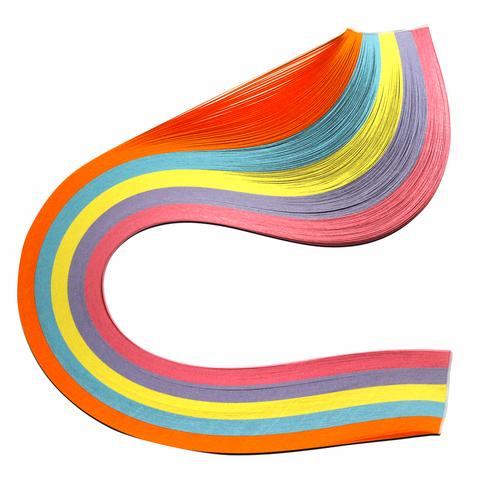 """074960 Бумага для квиллинга """"Базовые цвета"""", 5 цветов, 250 полос, 3 мм х 300 мм, 80 г/м2"""