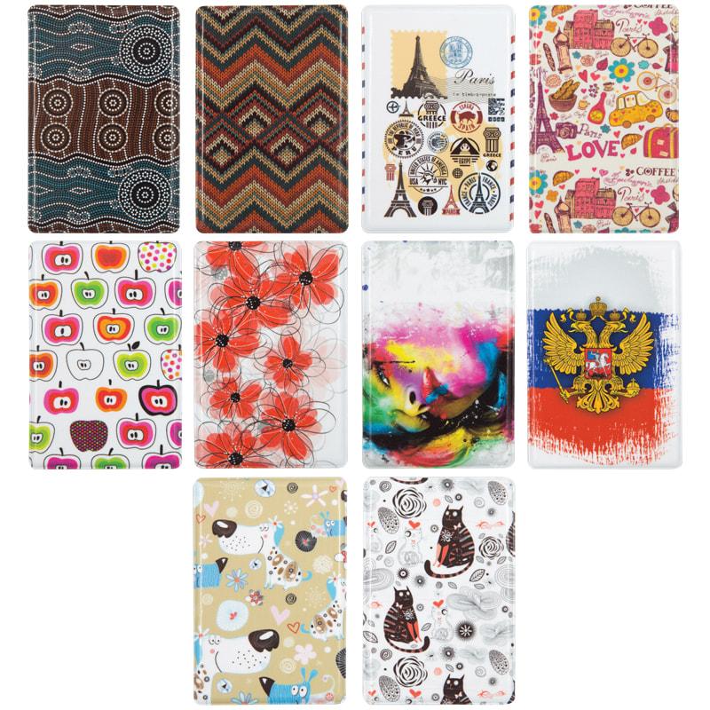 090947 Обложка-карман для проездного,карт и пропусков OfficeSpace,ПВХ, фотопечать, ассорти