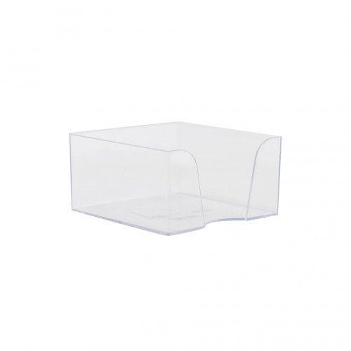 078548 Подставка под бумажный блок (90*90*50мм) прозрачная